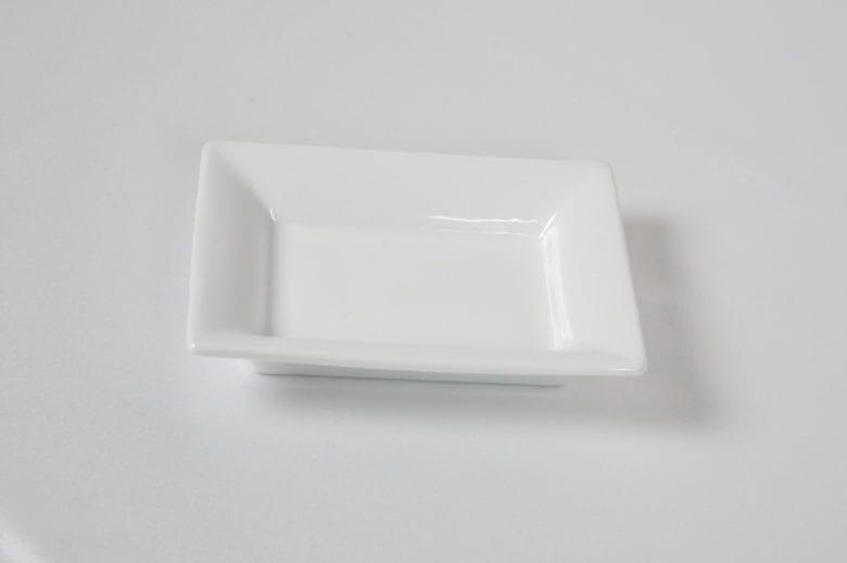 Тарелка  прямоугольная 12,5*9,5 фарфор