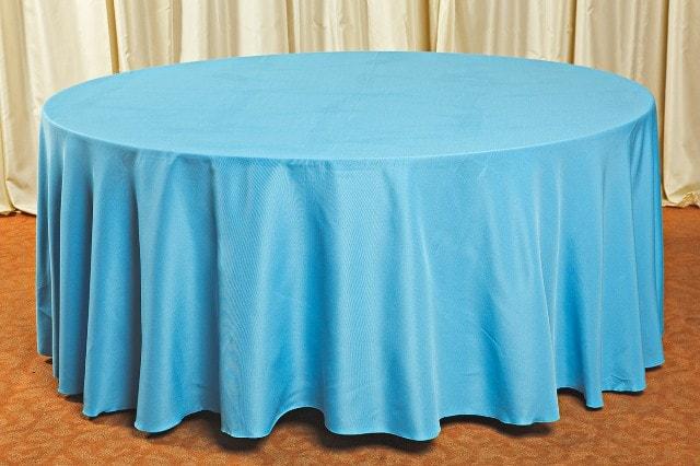 Скатерть для круглого стола голубая