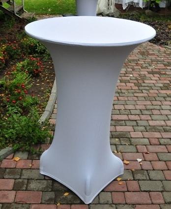 Чехол для барного стола белый