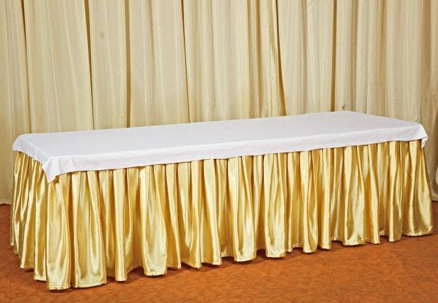 Золотая фуршетная юбка