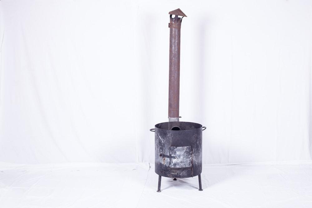 Буржуйка печь с казаном на 50л