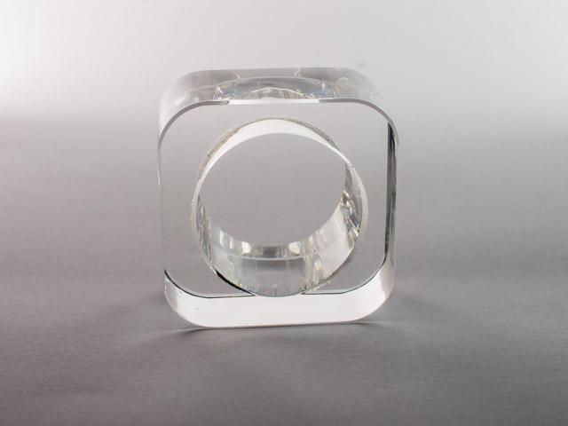 Кольцо для салфеток прозрачное акрил  VIP 2018