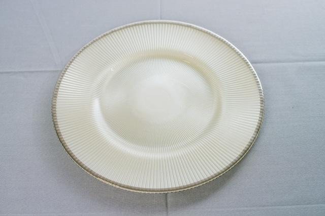 Тарелка подставная серая  33 см