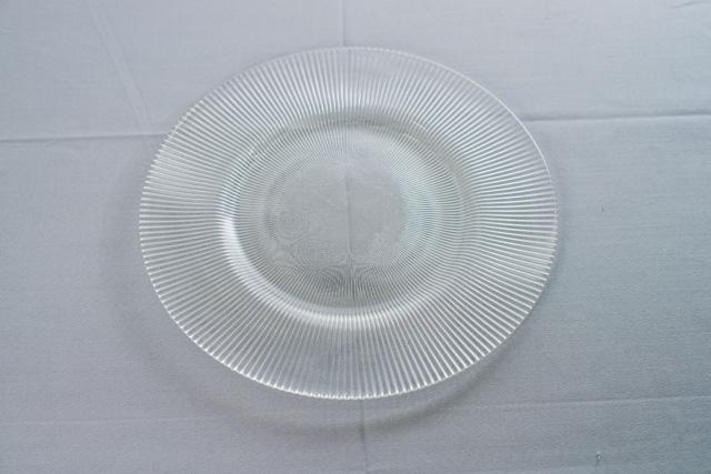 Тарелка подставная стеклянная   33 см