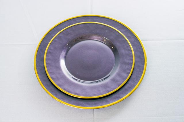 Тарелка основная черная 26,5 см
